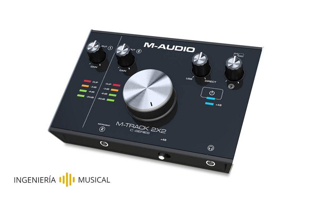tarjeta de sonido m audio 2x2 ingenieria musical