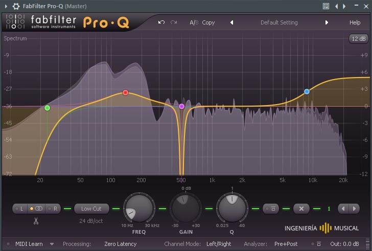 filtros ecualizacion fab filter pro q 2 ingenieria musical