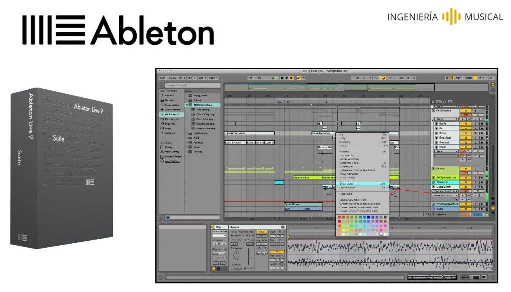 ableton logo interfaz ingenieria musical