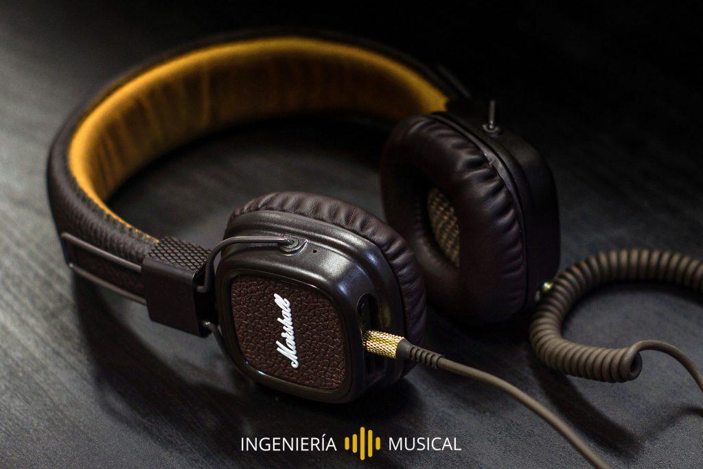auriculares cascos marshall ingeniería musical