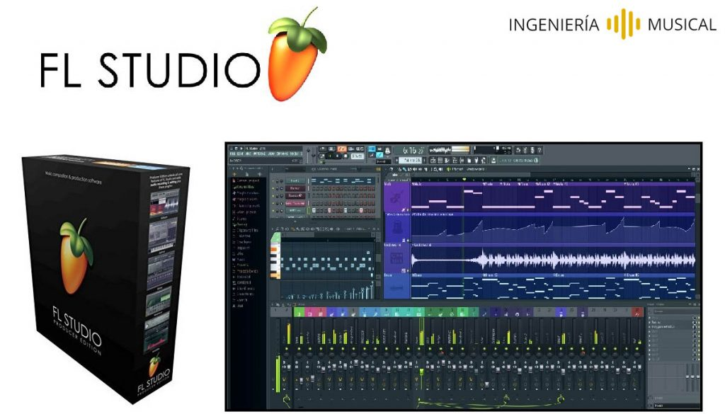 fl studio interfaz logo ingenieria musical