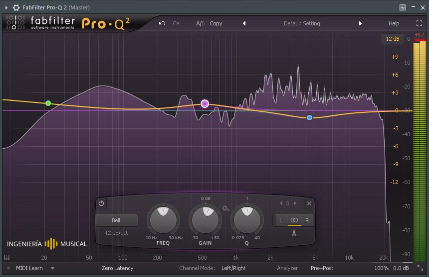 fafilter pro q2 ecualizador plugin ingenieria musical software de audio
