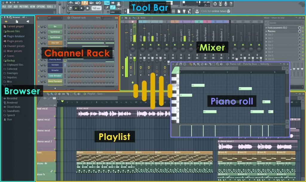 interfaz fl studio 12 ingenieria musical