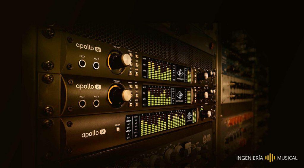 tarjeta audio sonido interfaz equipos ingenieria musical
