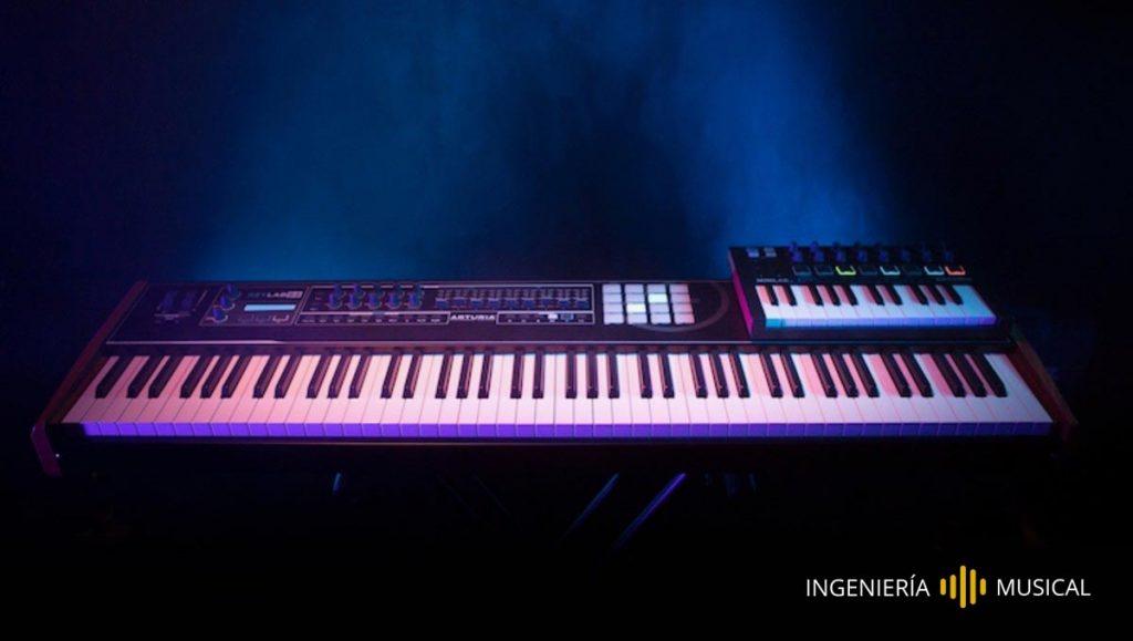 piano controlador MIDI equipos audio ingenieria musical