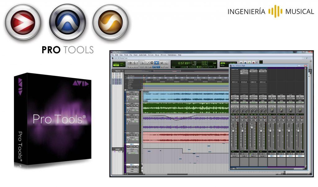 pro tools logo interfaz ingenieria musical