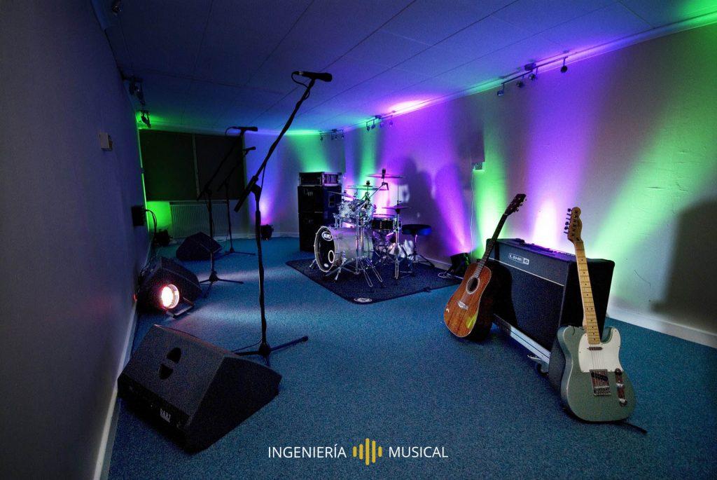 estudio grabación sala paralelepipeda ingenieria musical