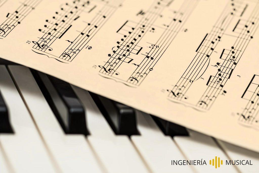 teoría producción musical ingenieria piano pentagrama