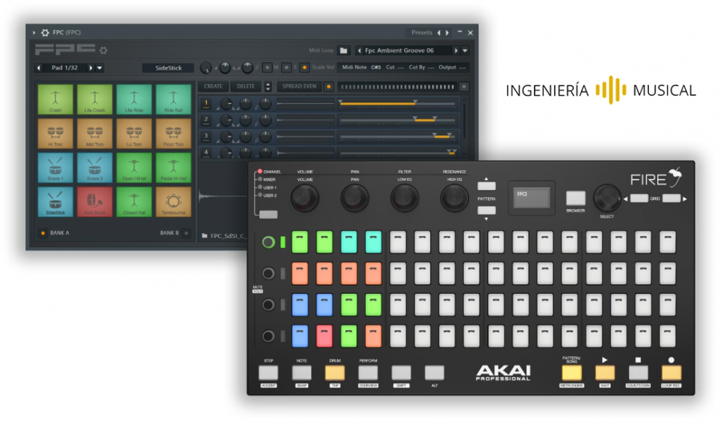 AKAI Fire FL Studio tutorial comprar ingenieria musical