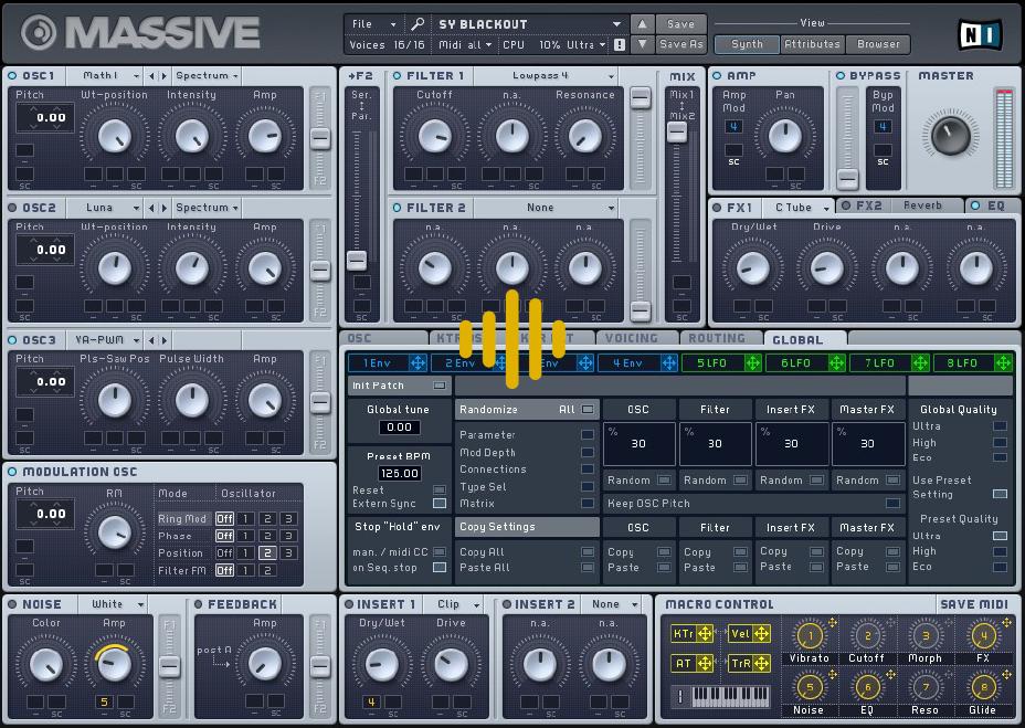 Massive mejores plugins sintetizadores ingenieria musical efectos de sonido