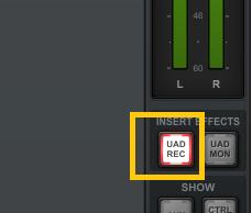 Configuracion de grabacion de Apollo Twin Universal Audio